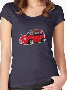 Shakotan Nissan Micra K11 Women's Fitted Scoop T-Shirt