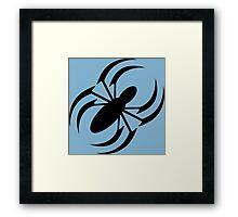 Slanted Spider Framed Print