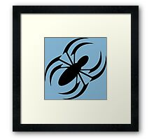 Slanted Spider Framed Print