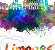 Limoges skyline in watercolor Sticker