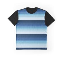 Blue Pattern Effects Graphic T-Shirt