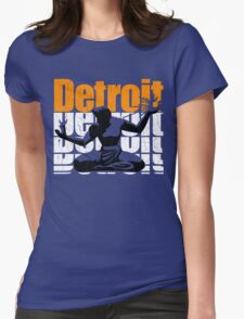 Vintage 1980s DETROIT (Distressed Design) Womens Fitted T-Shirt