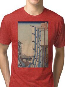 Dyers' quarter, Kanda - Hiroshige Ando - 1857 Tri-blend T-Shirt