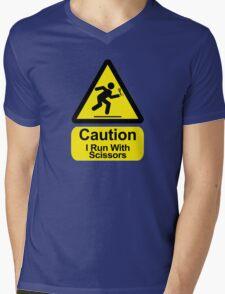 Funny - I Run with Scissors! Mens V-Neck T-Shirt