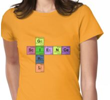 SCIENCE GIRL! - Periodic Elements Scramble Womens Fitted T-Shirt