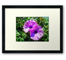 ©GS-DA Flower Of The Wall Paintography Framed Print