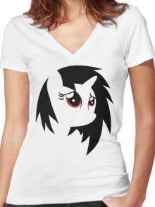 My Little Pony: Vinyl Scratch Women's Fitted V-Neck T-Shirt