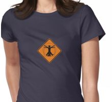 vitruvian man Womens Fitted T-Shirt