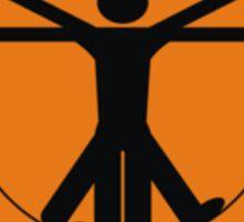 vitruvian man Sticker