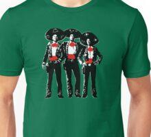 Three Amigos - Pop Art on Green Unisex T-Shirt