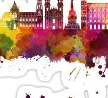 Linz skyline in watercolor Sticker