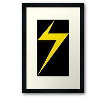Marvel Lightning Bolt Framed Print