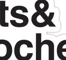 Cake & Cats & Crochet & Coffee Sticker