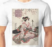 Floating world beauties in a parody of three classic plays - Eisen Ikeda - 1820 Unisex T-Shirt