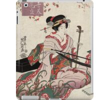 Floating world beauties in a parody of three classic plays - Eisen Ikeda - 1820 iPad Case/Skin