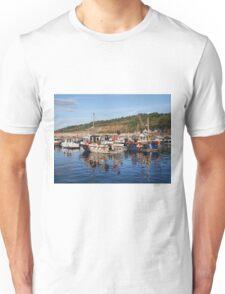 Fishing Boats at Lyme Regis harbour Unisex T-Shirt