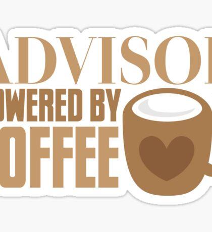Advisor powered by coffee Sticker