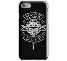 Neck Deep - floral knife (white)  iPhone Case/Skin