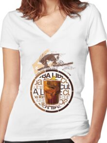 Cuba Libre recipe Women's Fitted V-Neck T-Shirt