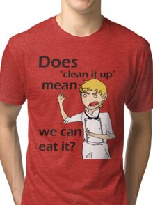 Can we eat it??? Tri-blend T-Shirt