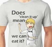 Can we eat it??? Unisex T-Shirt