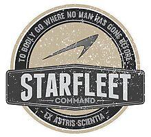 Starfleet Retro 'Where no man....' design Photographic Print