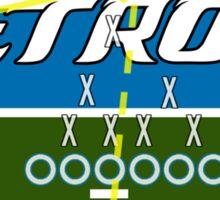 Detroit Touchdown Sticker