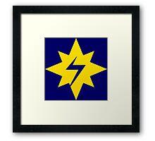 Marvel-ous Star Bolt design Framed Print