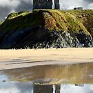 ruins of a wild atlantic way castle by morrbyte