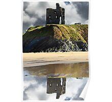 ruins of a wild atlantic way castle Poster