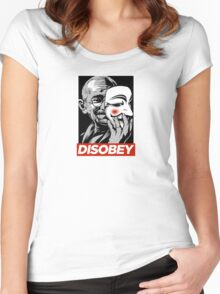 Disobey II Poster Version Women's Fitted Scoop T-Shirt