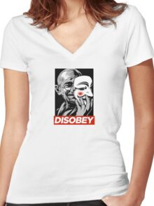 Disobey II Poster Version Women's Fitted V-Neck T-Shirt
