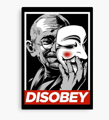 Disobey II Poster Version Canvas Print