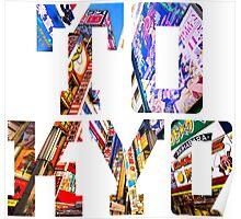 Japan Tokyo Typography Poster