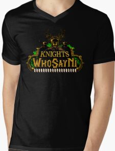 World of Ni-Craft Mens V-Neck T-Shirt