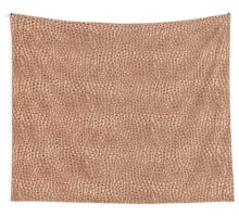 Copper Hammered Dots Wall Tapestry