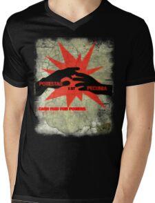 cash paid for powers - potestas est pecunia Mens V-Neck T-Shirt