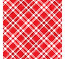 Red Picnic Fabric Pattern Photographic Print