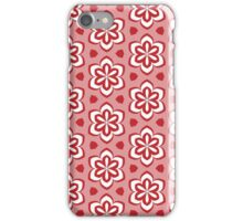 Red Pedals and White Flowers Pattern iPhone Case/Skin