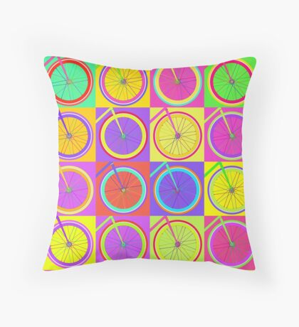 Fixie Pop  Throw Pillow