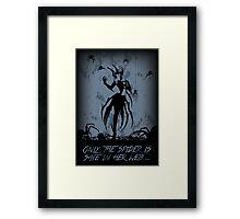 Elise, the Spider Queen Framed Print