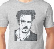 my sketch of johnny depp Unisex T-Shirt