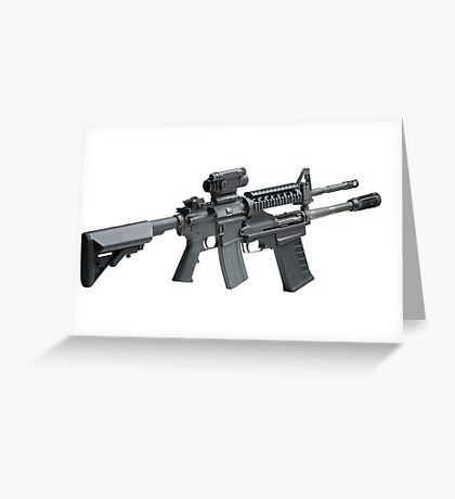 Automatic Rifle Greeting Card