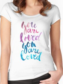 You are loved hand lettering . Women's Fitted Scoop T-Shirt