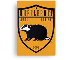 Hufflepuff Crest Canvas Print