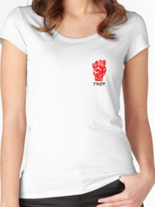 Rage Fist Logo Women's Fitted Scoop T-Shirt