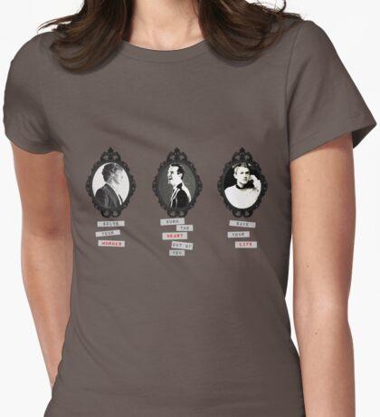 Sherlock, Moriarty, John Womens Fitted T-Shirt