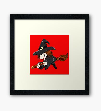 halloween witch Framed Print