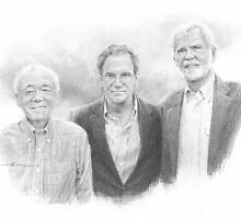 company founders drawing by Mike Theuer