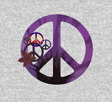 Purple Peace Womens Fitted T-Shirt